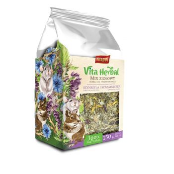 Vita Herbal Mix ziołowy dla szynszyli i koszatniczek 150 g
