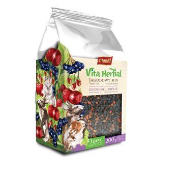 Vita Herbal mix jagodowy dla gryzoni i królika 200 g