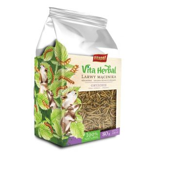 Vita Herbal larwy mącznika dla gryzoni 80 g