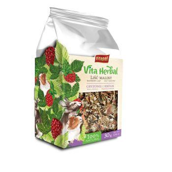 Vita Herbal suszone liście malin dla gryzoni i królików 30 g