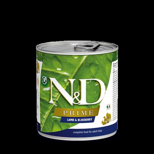 N&D Prime karma dla dorosłych psów z jagnięciną i borówką 285 g