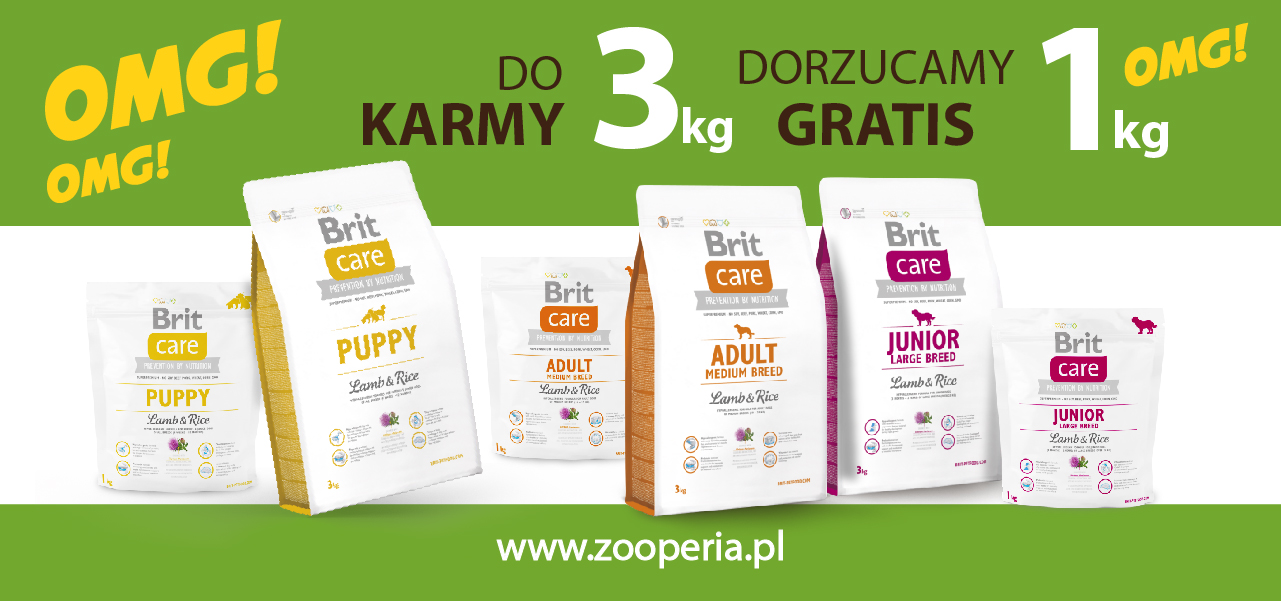 Brit Care 3 + 1 kg gratis